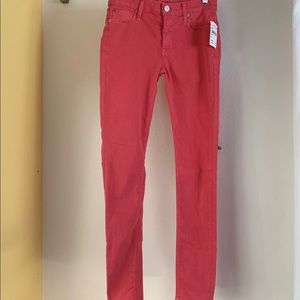 Hudson Jeans Jeans - Hudson Nico Super Skinny in Cherry. (NWT) Size 25